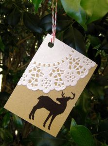 Blondas de papel para decorar tarjetas