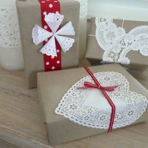 Packaging de Navidad con blondas