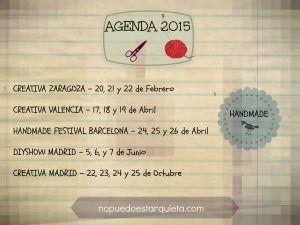 agenda de manualidades para 2015
