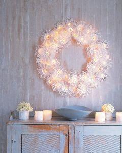 Blondas de papel para decorar en Navidad