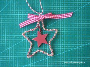 Adorno de navidad handmade. Estrella diy. Christmas.