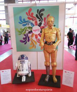 Creativa Madrid fondant tartas R2D2 y C3PO