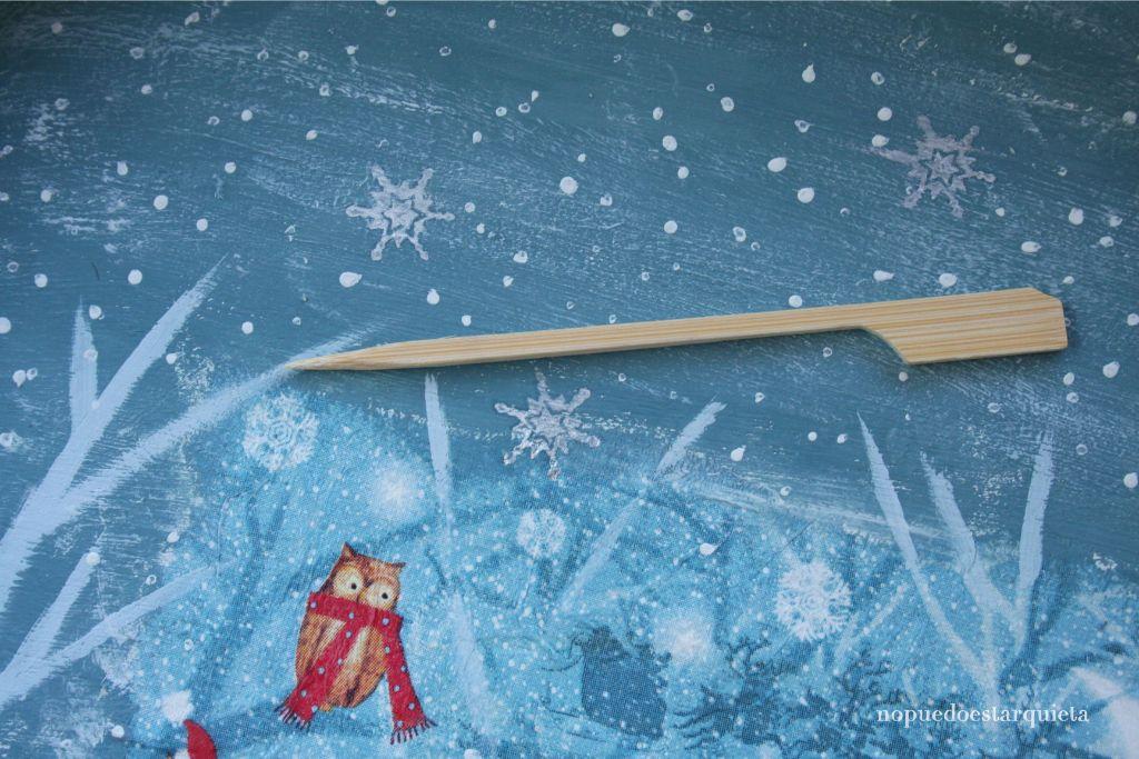 Cartel Navidad decoupage servilleta. Navideño. DIY.