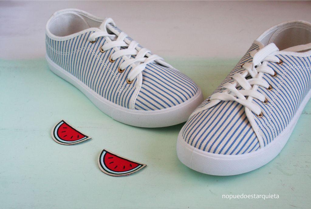 Decorar zapatillas con parches para ropa DIY IDEA VERANO