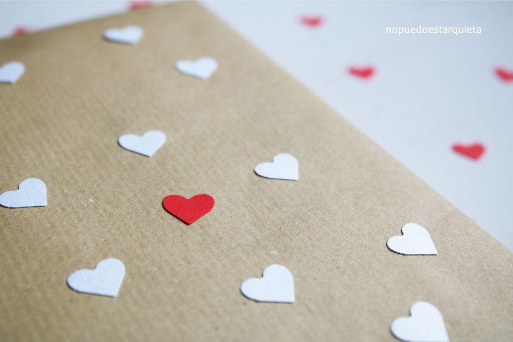Envolver bonito en San Valentín. Elvolver regalos. DIY.