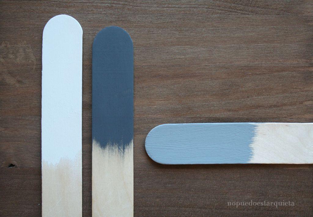 Mezclar colores de chalk paint. Pintura a la tiza.