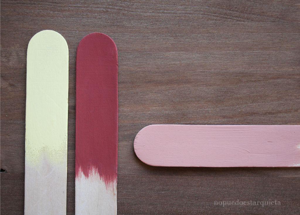 Mezclar colores de chalk paint. Pintura a la tiza
