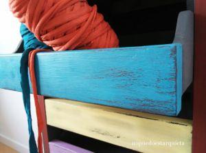 Mueble cajonera recuperado con chalk paint, Americana decor. Pintura a la tiza. Diy.