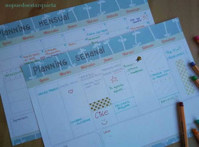 Imprimible, printable, planner, planning