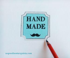 sello handmade carboncillo