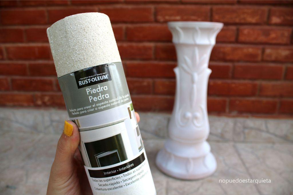 Renovar muebles con spray piedra Rustoleum Xylazel