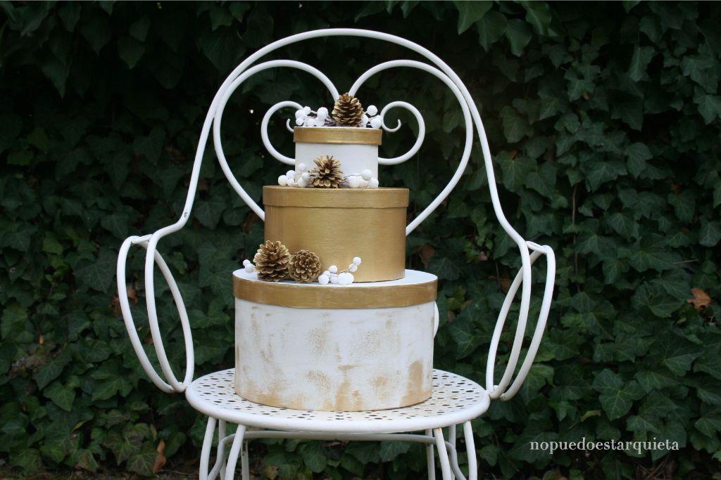 Tarta hucha boda. Manualidades para la boda. DIY